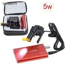 TDOUBEAUTY 5 Вт Портативный головной светильник лампа для стоматологических медицинских очки-бинокли светодиодный(AC100-240V