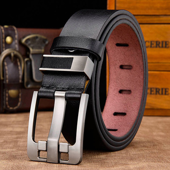 [DWTS]men belt male high quality leather belt men male genuine leather strap luxury pin buckle fancy vintage jeans free shipping 9