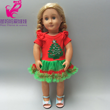 18inch  doll Bebe Born Christmas tree Santa Claus dress fit for 18 Clothes wear Baby girl New year gifts