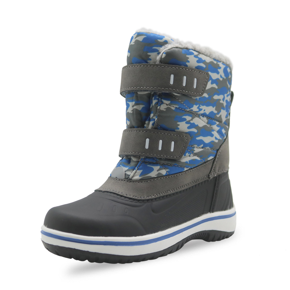 Image 3 - Apakowa Boys Frosty Winter Warm Lamb Lining Snow Boots Little Kids Lightweight Waterproof Cold Weather Non slip Outdoor Boots-in Boots from Mother & Kids