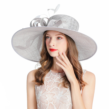 British Royal Banquet  Fedoras Hats For Women Elegant Church Hat Fascinator Wedding Cocktail Tea Party Pink Linen Cap