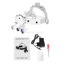 3.5X 拡大高輝度 led ライトヘッドライトヘッドバンドルーペ双眼ルーペ充電式 D13 19