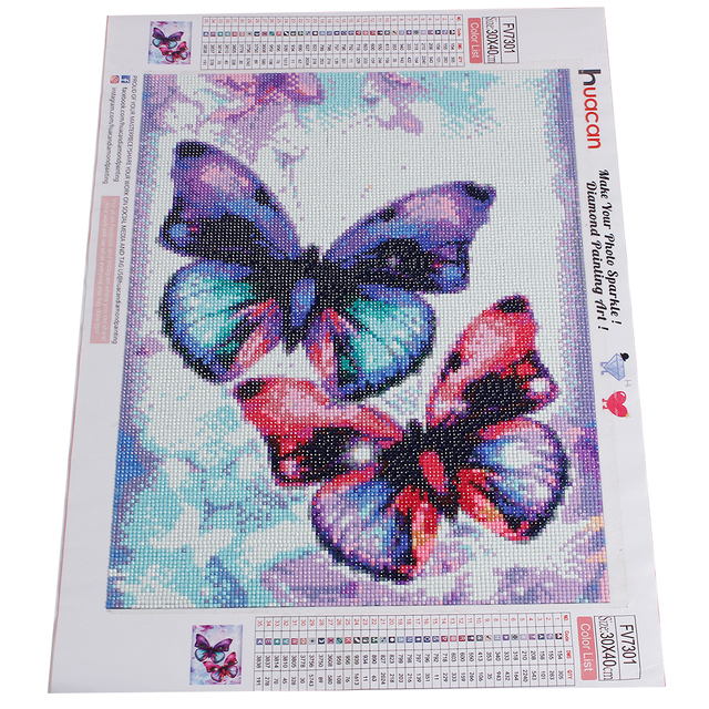 HUACAN 5D DIY Full Square Diamond Painting Animal Butterfly Mosaic Diamond Embroidery Decor Home Picture Of
