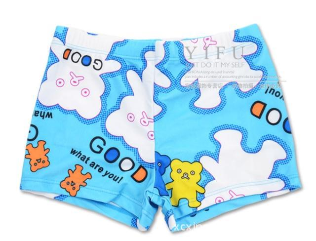 Cute Cartoon Bear CHILDREN'S Swimming Trunks Boxer Swimming Trunks BOY'S Boxer Shorts Boy Swimming Shorts