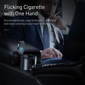 Image 2 - Baseus Car Ashtray Portable LED Light Cigarette Smoke Ashes Holder for Car Flame Retardant High Quality Ash tray Car Accessories