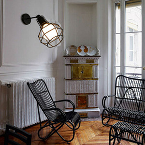 Image 5 - בציר מנורת קיר תעשייתי קיר אור LED פמוט אמריקאי רטרו קיר מנורת מתכת כיסוי אור עיצוב הבית תאורה קבועה