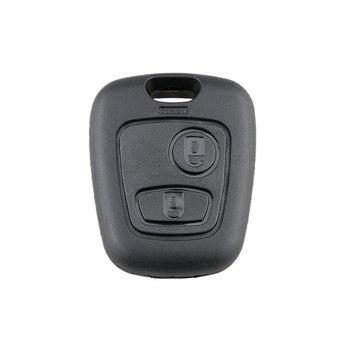 2 przyciski wymiana zdalnego surowe kluczyki samochodowe powłoki obudowa pilota dla Peugeot 206 307 107 207 407 bez grota Auto etui na klucze tanie i dobre opinie CN (pochodzenie)