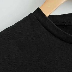 Дисней Мода слон Дамбо флаг мультфильм печати черная футболка с круглым вырезом Пуловер короткий рукав повседневные милые стильные женски...