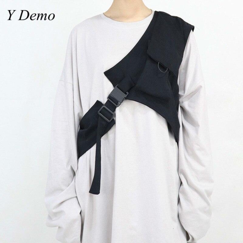 New Harajuku Rock One Shoulder Buckle Cool Vest Accessory