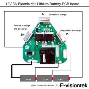Image 5 - 3S BMS 12V 10A Batterie Schutz Bord PCM DC Elektronische Werkzeuge 18650 Lipo Li Ion Lithium Ladegerät Batterie BMS circuit Board PCB