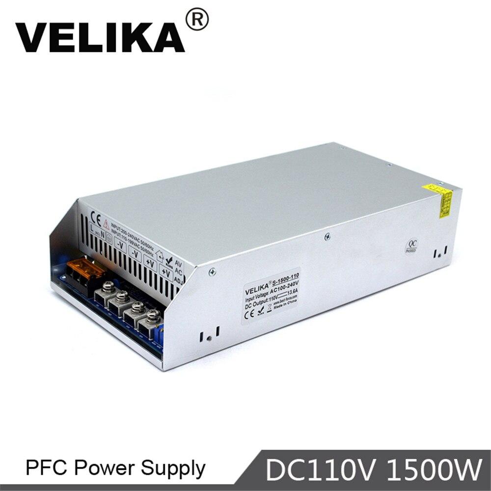 Одиночный выход импульсный источник питания 1500 Вт 110 В 13.6A трансформаторы драйвера 100-260 В переменного тока в DC110V SMPS для освещения принтера CCTV