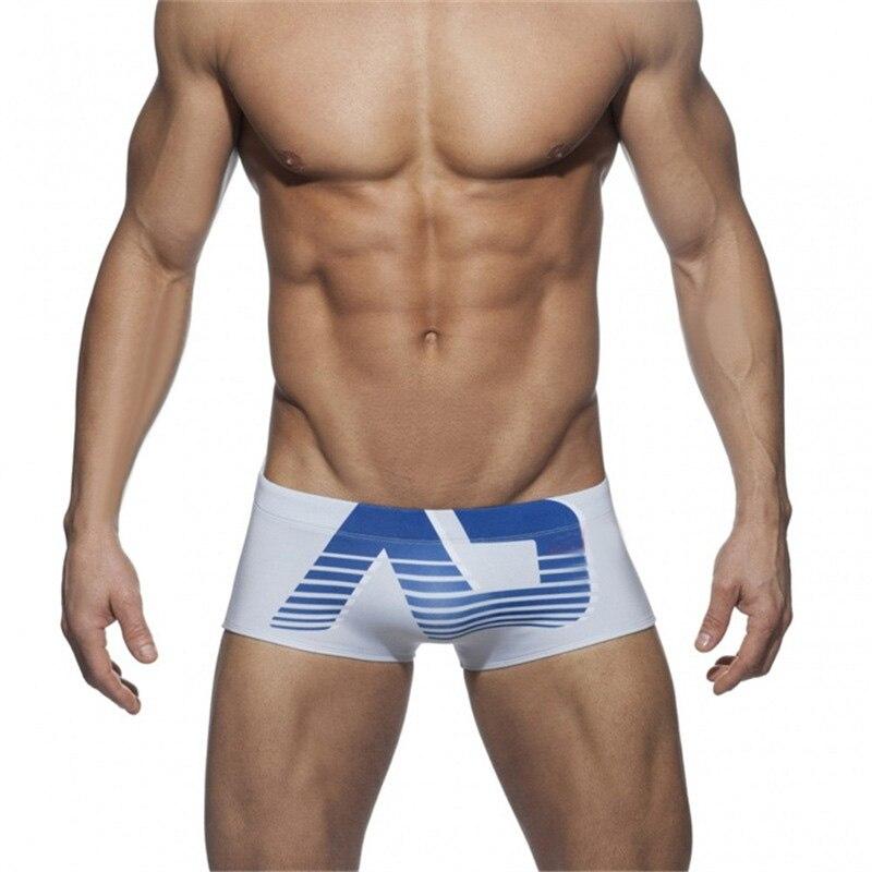 Quick Drying Men Boxer Shorts Men Printing Swimsuit Push Pad Low Waist Sexy Mens Swim Trunks Summer Bathing Beach Wear Surf