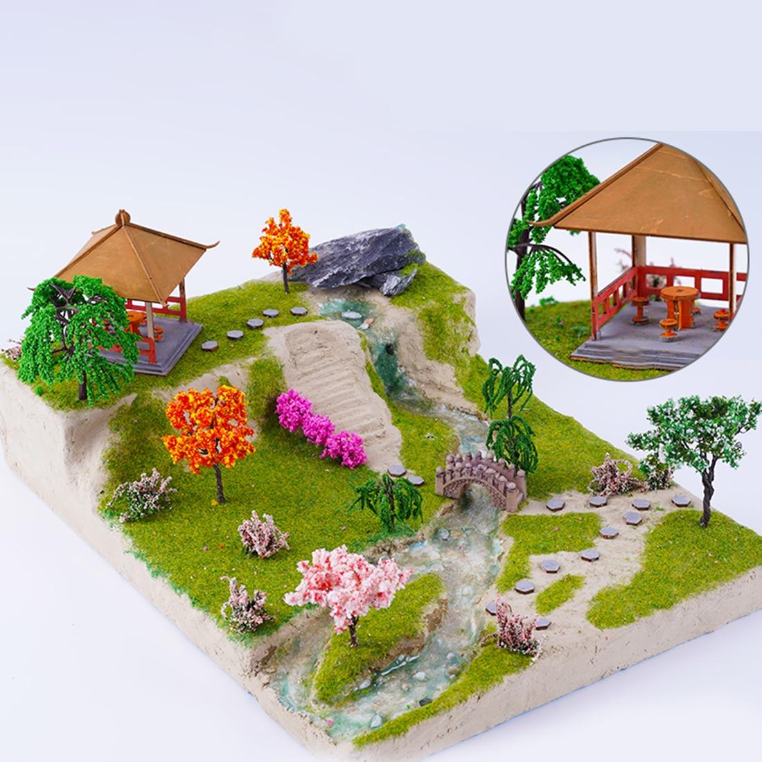DIY песочный стол Модель Строительный материал комплект водный пейзаж крем Ландшафтный грязевой павильон открытый ландшафтный Декор