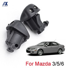 Jet-Nozzle Windshield-Washer 2007 Mazda 3 2008 2pcs Front for Mk1/03-09/5-mk2/..