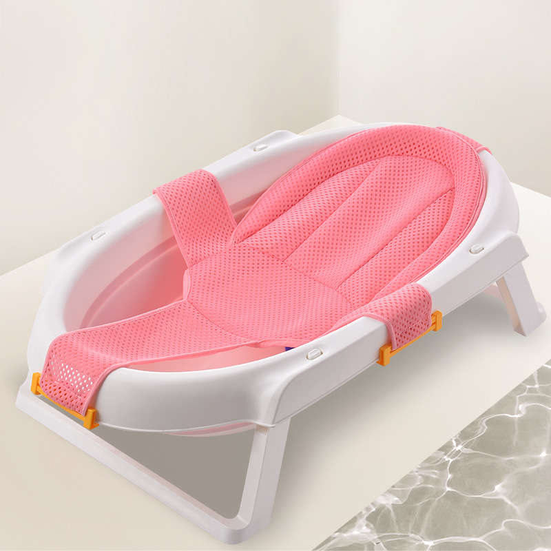 Portable Newborn Baby Bath Adjustable Antiskid Net Bath Tub Sling Mesh Net Baby Accessories Baby Bath Bed Without Tub