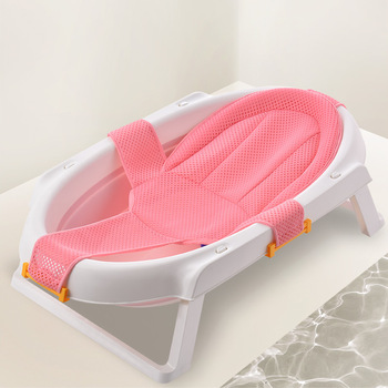 Adjustable Baby Bath Tub With Sling Made Of 3D Mesh Net For Newborn Baby Bath