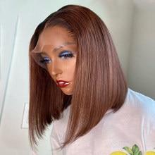 T1B/30 Color Bob peluca 150% Ombre T malla con división frente pelucas de cabello humano para las mujeres brasileño Remy Pre arrancado con el pelo del bebé