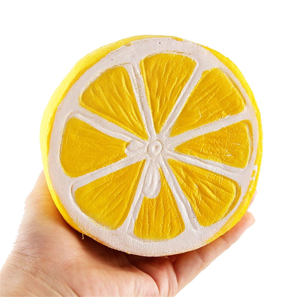 Squishy Half Fresh Lemon Slow Rising Key Chains Stress Fruit Ballchain Charm Soft Toy Kids Toys Juguetes Zabawki игрушки New