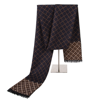 Brand men's Warm Scarf Fashion Winter Solid Style Formal Business Shawl Thicken Muffler For Man - discount item  35% OFF Scarves & Wraps