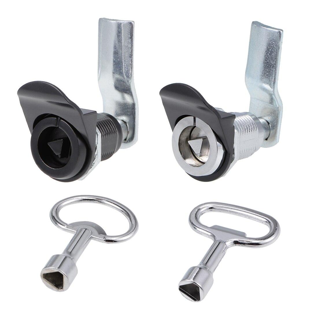 22mm Cylinder Zinc Alloy Chrome Finish Cam Lock w Triangle Key Keyed Alike