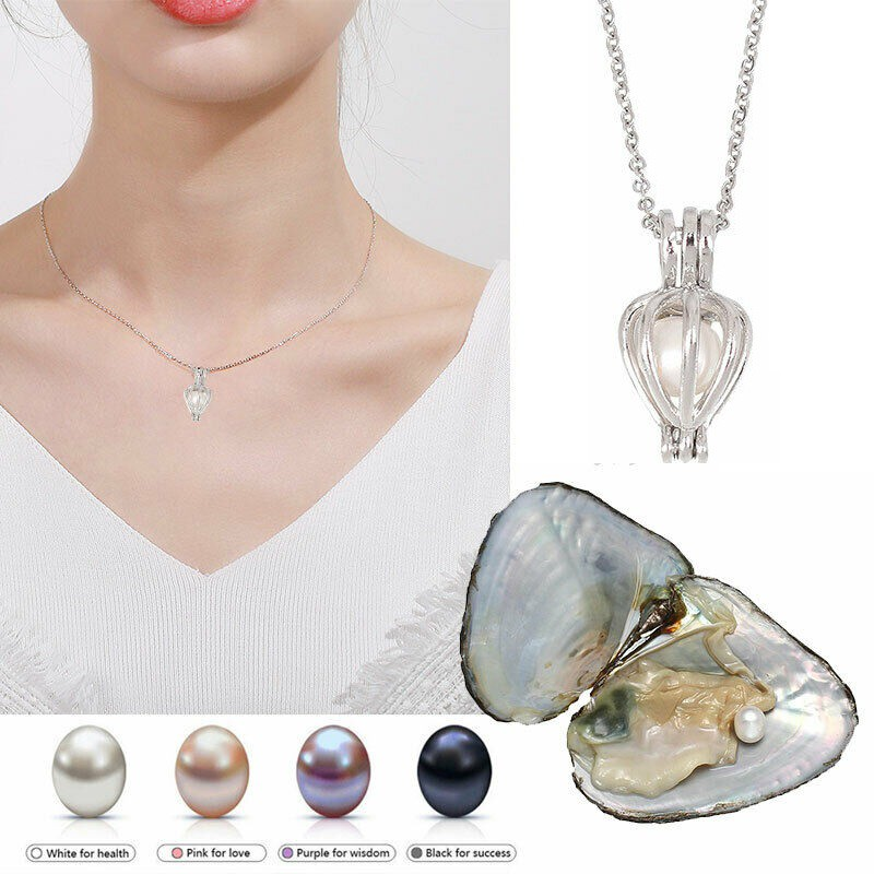 2020 Valentine\'s Day 12 Zodiac Sign Pendant Necklace Gift Box Set DIY Natural Freshwater Aquaculture Pearl Necklace New