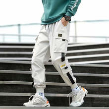 Брюки карго мужские модные с боковыми карманами