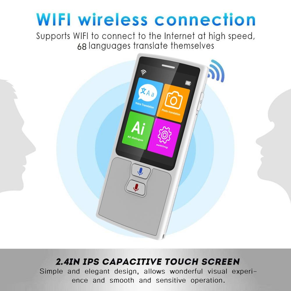 76 Languages Pocket Voice Translator for Travel translator with HD Touch Screen including WIFI and Hotspot Networking Methods 2