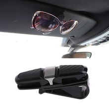 Car Auto Sun Visor Glasses Sunglasses Card Ticket Holder Clip Universal Black ABS Stander