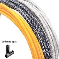 3 metro 5mm cabo de freio da bicicleta habitação tecelagem com tampas de extremidade de alumínio montanha mtb desviador linha tubo deslocamento fio Cabos e alojamento     -