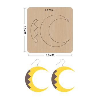 SMVAUON notatnik Die Cut księżyc kreskówkowy kolczyk handmade nowe matryce do 2020 drewniany szablon do wycinania formy do wykrawania drewna tanie i dobre opinie Leather Tools