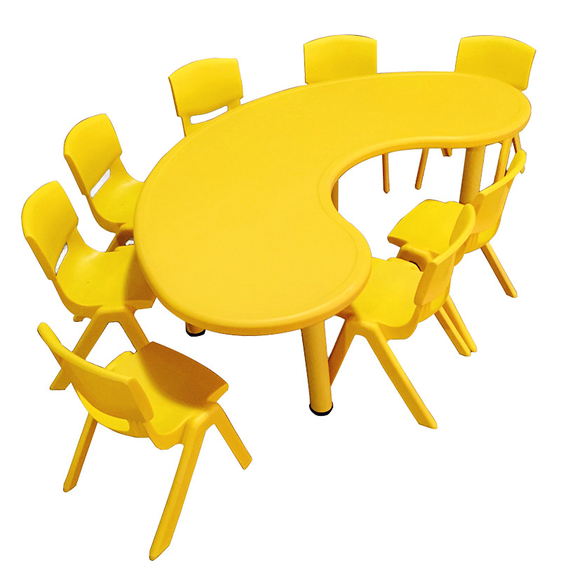 Kindergarten Children's Table And Chair Toy Table Plastic Game Table Learning Table Lift