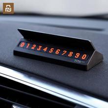Gorący oryginalny Youpin Tita tymczasowy znak Stop samochód karta parkingowa numer wielonarodowe numery telefonów akcesoria samochodowe