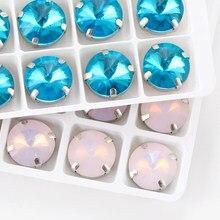 Astrobox – pierre à griffes Rivoli fantaisie, perles en cristal de verre à coudre sur les strass, bricolage pour la fabrication de bijoux de vêtements, nouvelle collection