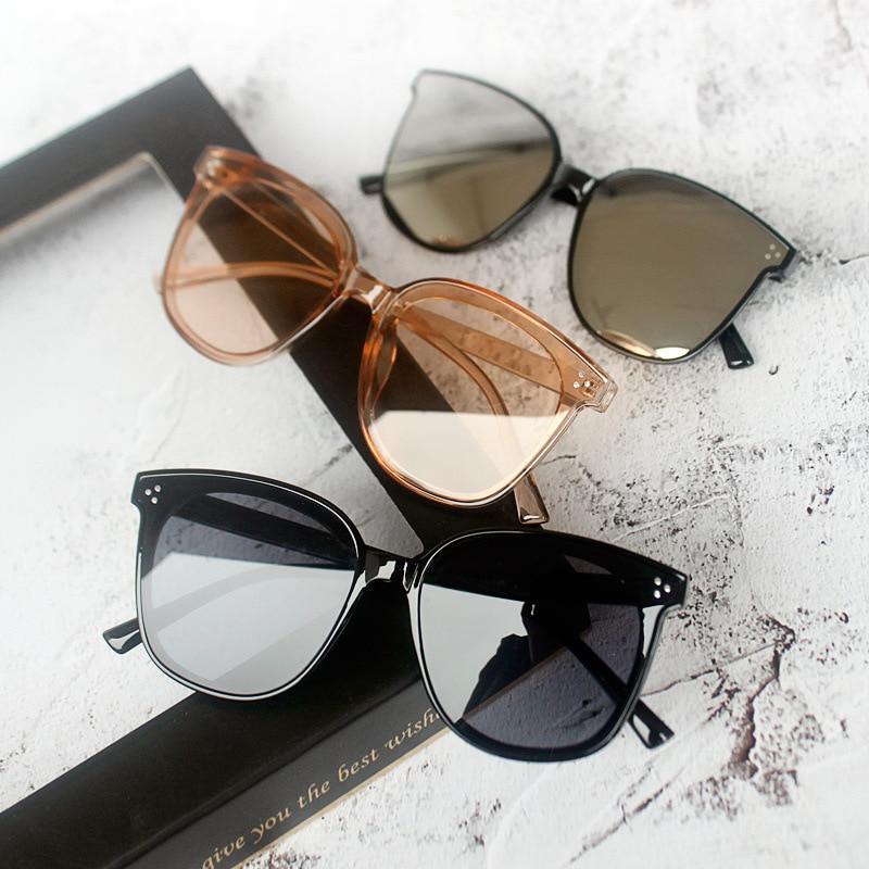 Acetate Sunglasses Unisex Brand Designer 2018 New Fashion  Squared Mirror Korean Sun Glasses for Women Screwless Eyewear