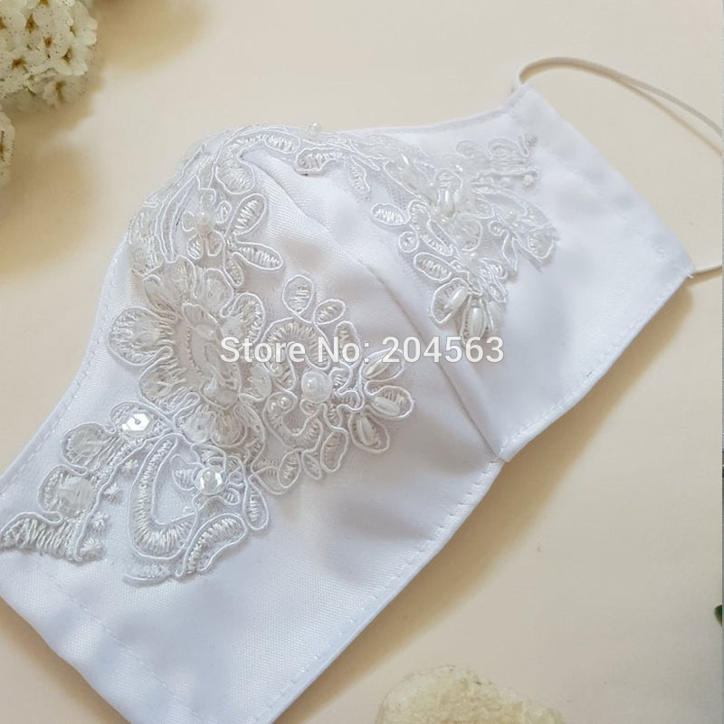 Elegant Shiny Lace Wedding Mask Decoration Face Accessories Cover Face Bridal Mask