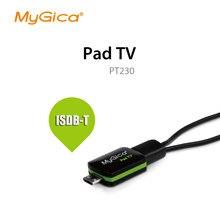 Isdb-t/dvb-t micro usb sintonizador de tv geniatech mygica pt230 assistir tv no telefone android/almofada micro usb sintonizador de tv