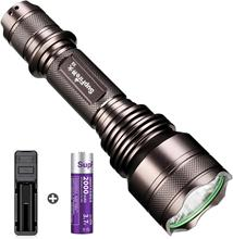 Supfire X5 Tactical Flashlight Waterproof Torch 5 Modes Super Bright 1100 Lumens Cree LED with 18650 Battery and Charger