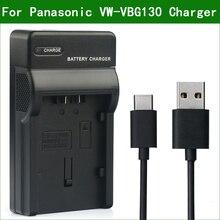 LANFULANG VW VBG130 VW VBG260 için yedek pil şarj cihazı Panasonic SDR H40 AG HMC150 AG HMC151 AG HMC71 HDC SD7 HDC SD9
