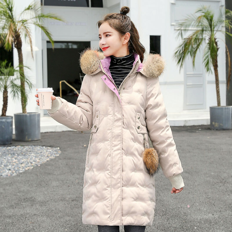Women&39;s Jacket Large Size 2019 Female Long Hooded Fur Collar Parka_A5_6