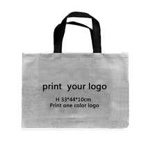 100pcs Custom Logo gift bags High quality silver Shopping bags Clothes bags gold bags