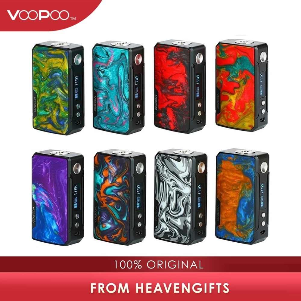 177W VOOPOO DRAG 2 Box Mod Power By 18650 Battery Electronic Cigarette Vape Mod Voopoo Mod Vs Gen Mod / Shogun Univ/ Drag 157W