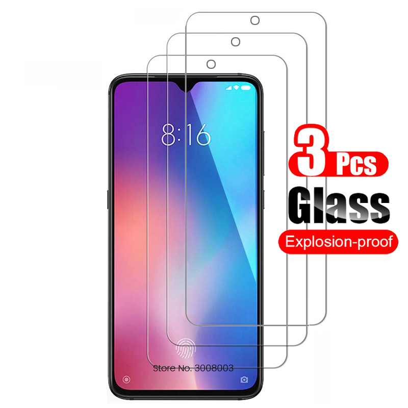 3PCS Tempered Glass Screen Protector Glass For Xiomi Xiaomi Mi 9 8 A1 A2 Lite 9se A3 9t Pro Play Pocophone F1 Protective  Film