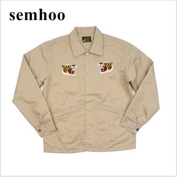 2020 New Coach Jacket Retro Men's Tiger Embroidered Jacket