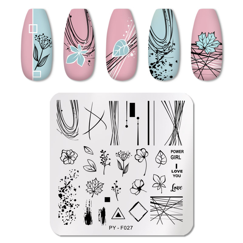 PICT YOU 12*6cm Nail Art Templates Stamping Plate Design Flower Animal Glass Temperature Lace Stamp Templates Plates Image 78
