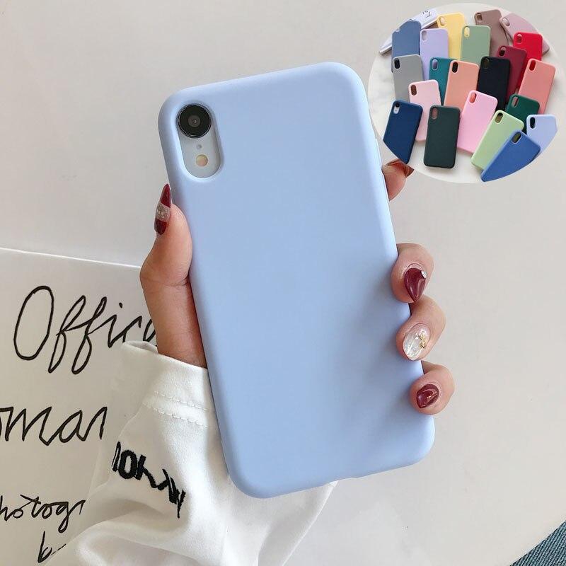 Роскошный мягкий силиконовый чехол карамельного цвета для iPhone 11 Pro XS Max XR X 7 8 Plus 8 Plus 7Plus 6 S 6 S Чехол для задней крышки пара|Специальные чехлы|   | АлиЭкспресс