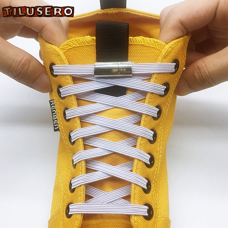 1Pair Elastic Magnetic Lock Shoelaces Creative Quick No Tie Shoe Laces For Kids Adult Shoelace Z078
