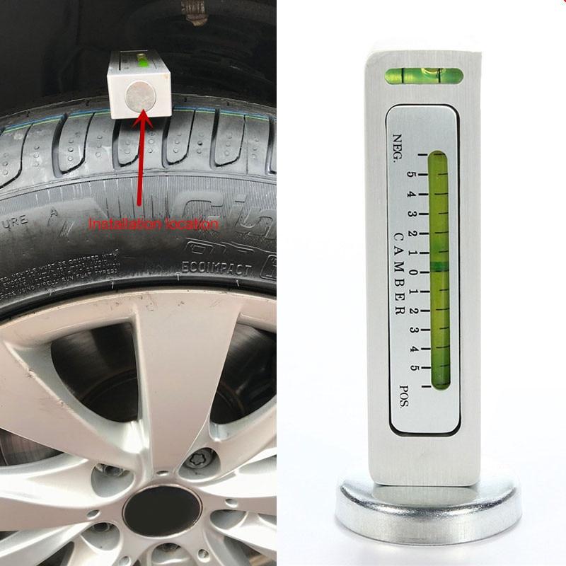 Ewalite Universal Adjustable Magnetic Gauge Tool for Car RV Tire Repair Truck Camber Castor Strut Wheel Alignment Blue
