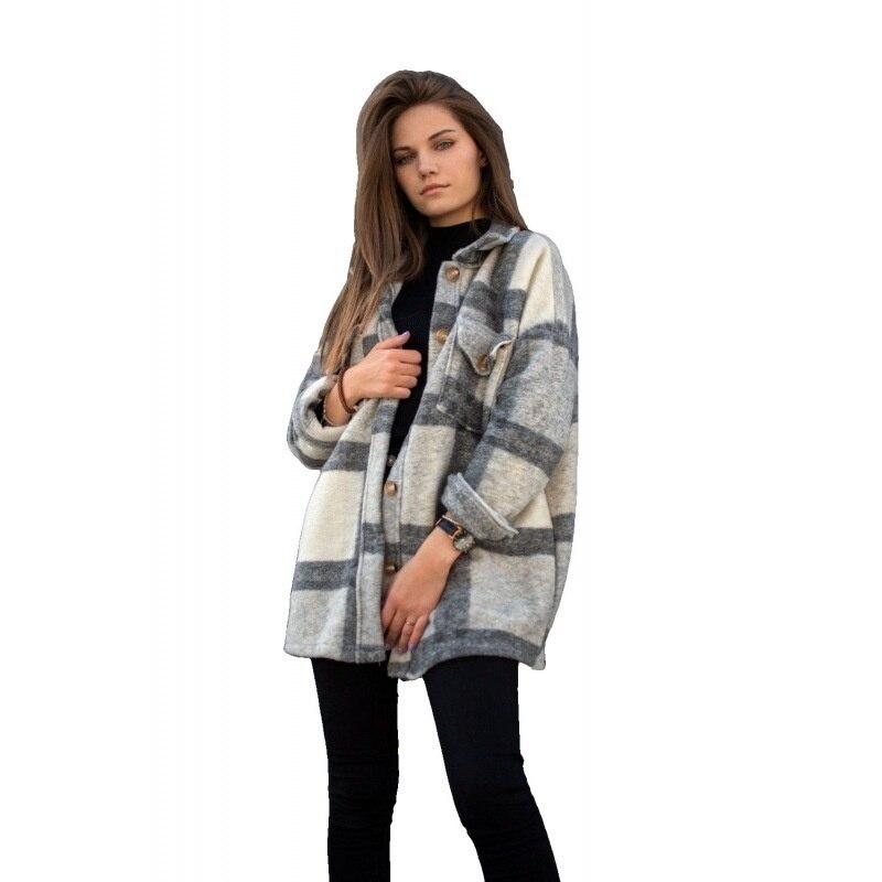Fall Long Sleeve Loose Women's Coat Fall Outfit 2021 5