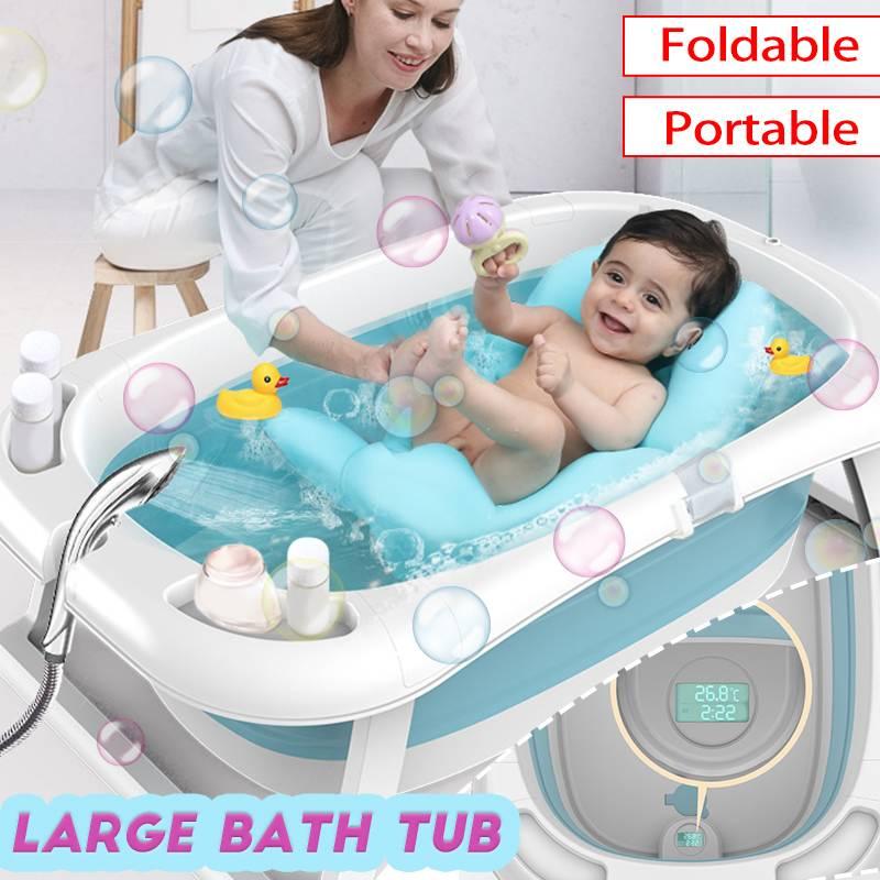 Portable pliable nouveau-né bébé pliant grande baignoire bébé nager baignoire intelligente bain corps lavage enfants douche antidérapant enfant baignoire