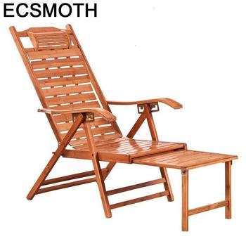 Mobiliario diván Relax Abatible bambú Cama Plegable Sillones reclinables silla moderna Para...